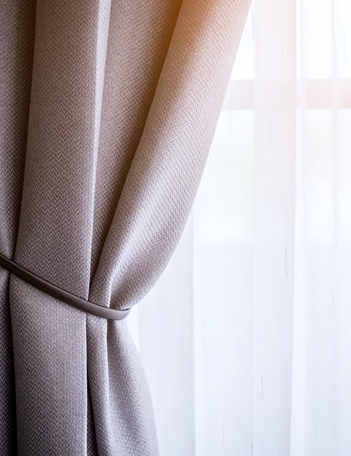 Brown Curtain with Beautiful Sun Light and Shadow